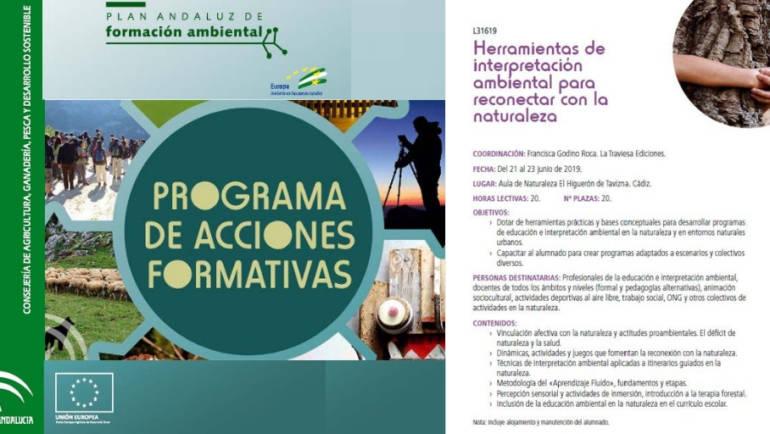 CURSO: HERRAMIENTAS DE EDUCACIÓN E INTERPRETACIÓN AMBIENTAL PARA RECONECTAR CON LA NATURALEZA (PAFA, JUNIO 2019)