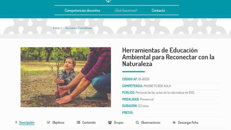 CURSO: HERRAMIENTAS DE EDUCACIÓN AMBIENTAL PARA RECONECTAR CON LA NATURALEZA (GSD)