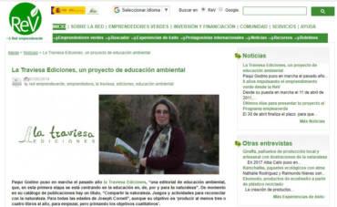 Entrevista en la Red Emprendeverde: La Traviesa Ediciones, un proyecto de educación ambiental