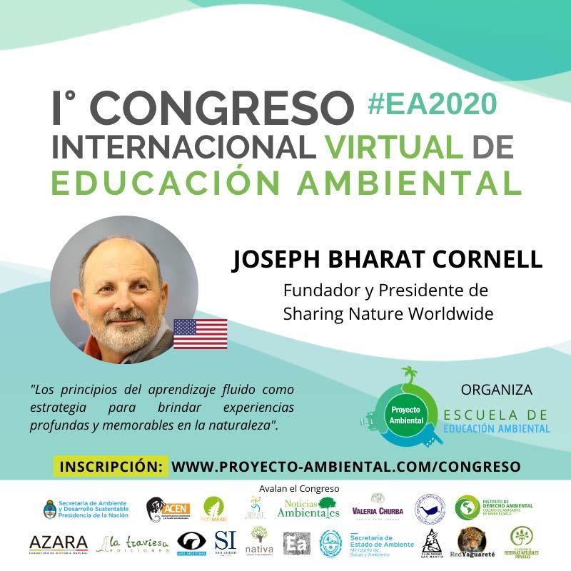 Joseph Cornell en el I Congreso Virtual de Educación Ambiental