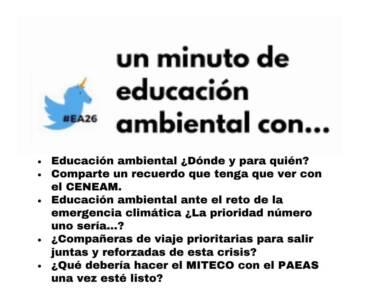 Un minuto de Educación Ambiental con #EA26