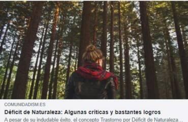 Reflexionando sobre el Déficit de Naturaleza (continuación)