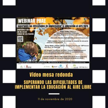 Vídeo del webinario: Superando las dificultades de implementar la educación al aire libre, PRAE