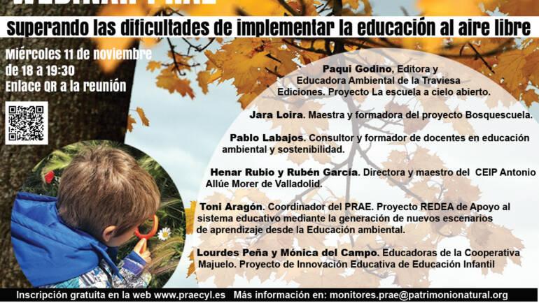 Webinar: Superando las dificultades de implementar la educación al aire libre, PRAE