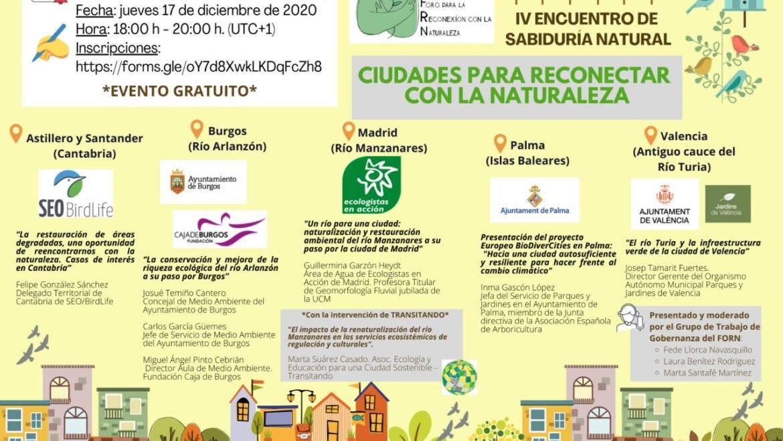 Ciudades para Reconectar con la Naturaleza, IV Encuentro del FORN